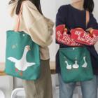 Goose Print Tote Bag