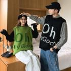 Couple Matching Lettering Knit Top