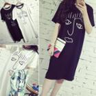 Short-sleeve Print T-shirt Dress