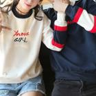 Couple Lettering Sweatshirt