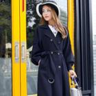 Balloon-sleeve Trench Coat