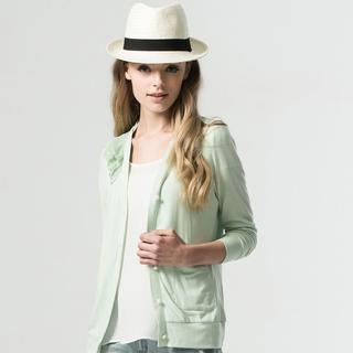 Faux-pearl Button Cardigan
