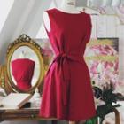 Sleeveless Bow-tied Dress
