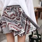 Inset Shorts Pattern Mini Skirt