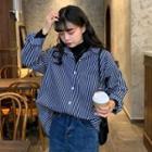 Striped Shirt / Plain T-shirt