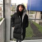 Padded Hooded Long Coat
