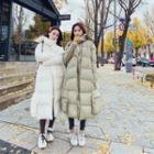 Midi Padded Coat With Scarf
