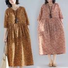 Ethnic V-neck Print Dress