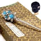 Flower Gemstone Hair Pin