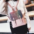 Glittered Flap Backpack