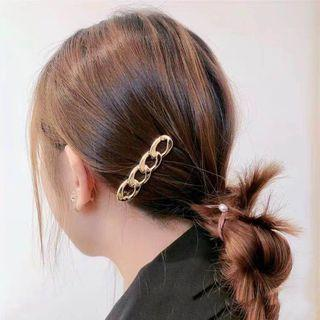 Linked Hoop Hair Clip Gold - One Size