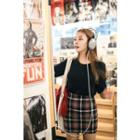Plaid Mini Pencil Skirt
