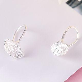925 Sterling Silver Leaf Earring S925 Silver - Earrings - 1 Pair - One Size