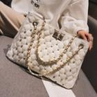 Studded Quilted Chain Shoulder Bag