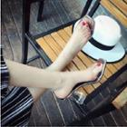 Chunky-heel Clear Sandals