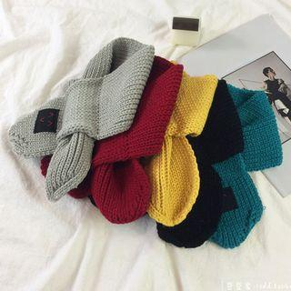 Knit Keyhole Scarf