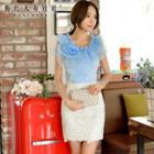 Lace Pencil-cut Skirt