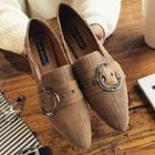 Buckled Low Heel Pointed Loafers