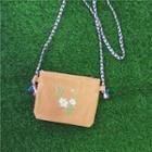 Canvas Embroidered Cross Bag