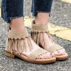 Fringed Genuine Leather Sandals