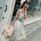Sleeveless Embroidery Tulle Dress
