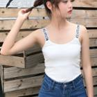 Lettering Strap Camisole