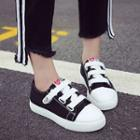 Canvas Platform Velcro Sneakers
