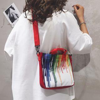 Color Splash Canvas Crossbody Bag
