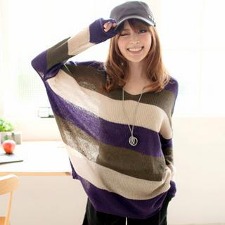 Color-block Loose-fit Sweater