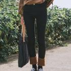 Fleece Panel Skinny Jeans