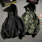 Camo Hooded Jacket / Plain Hooded Jacket