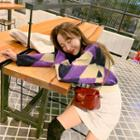 Argyle Mohair Blend Sweater