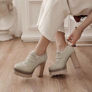 Tassel Platform Chunky-heel Shoes