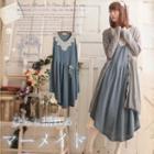 Sleeveless Crochet Collared Dress
