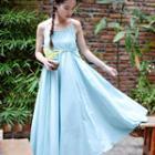 Strappy A-line Maxi Dress