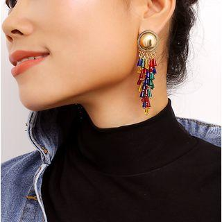 Alloy Fringed Earring 1265 - Gold - One Size