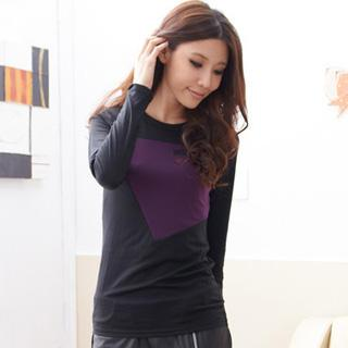 Color-block Long-sleeve T-shirt