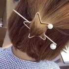 Faux Pearl Star Hair Pin
