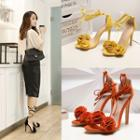 High-heel Lace-up Sandals