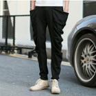 Draped Slim Fit Pants