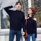 Couple Matching Mock Turtleneck Sweater / Halter Sweater