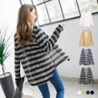 Bold Striped Sheer Knit Cardigan