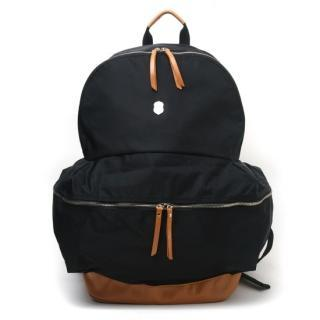 Faux-leather Trim Backpack