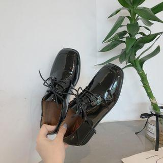 Patent Lace Up Oxfords
