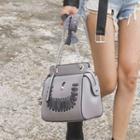 Chain-strap Laced Shoulder Bag