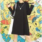 Hooded Drawstring Pullover Dress