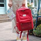 Canvas Backpack With Embroidered Pouch