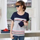 Stripe Colour Block Short-sleeve T-shirt