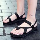 Toe-loop Ankle Strap Sandals
