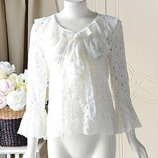 Lace Bell-sleeve Blouse
